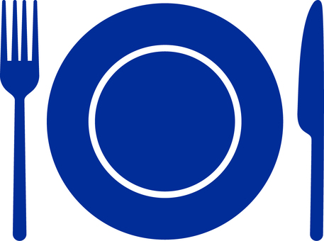 Restaurant _ Pictosign _ 01 _ blue