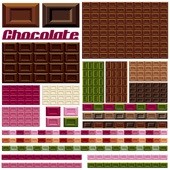 Board chocolate candy food Illustration set