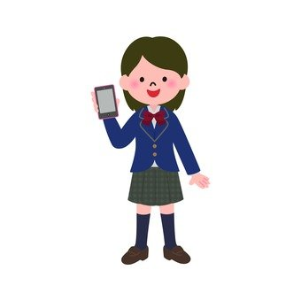 Female student with smartphone