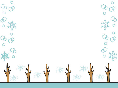 Street tree frame · snow