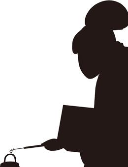 Ukiyo-e character silhouette part 149