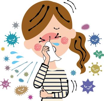 Terrible hard cough fever flu Huge cold female
