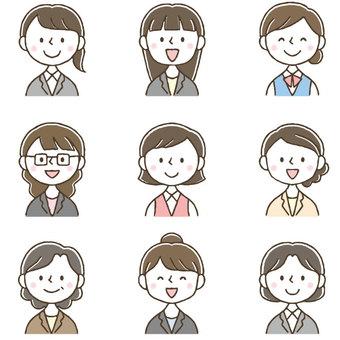 Cute female office worker / business / suit OL