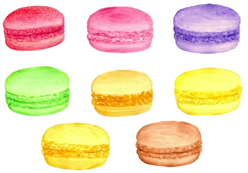 Watercolor macaroon