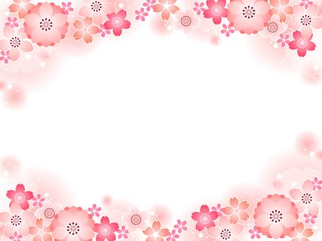 桜と桃の背景02