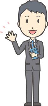 New graduate suit male-061 - whole body