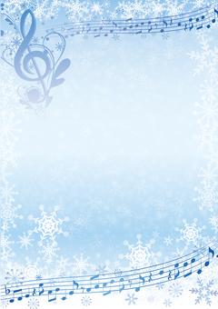 우아한 음표있는 겨울 프레임 소재