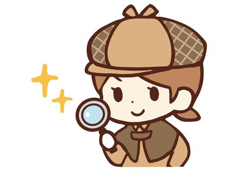 Child detective, girl up