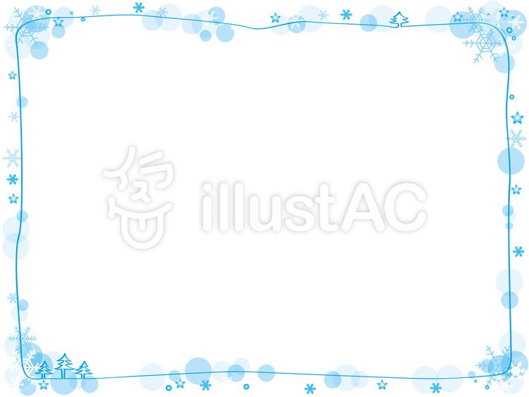 雪の結晶フレームイラスト No 604013無料イラストならイラストac