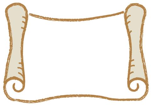 羊皮紙_手描き_茶色