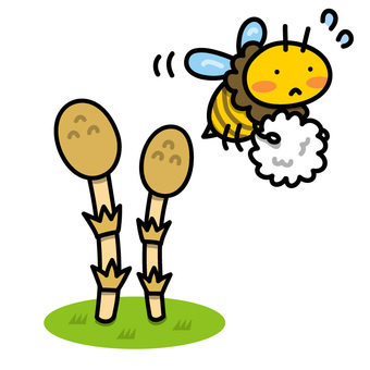 Illustration of Tsukushi and Honeybee