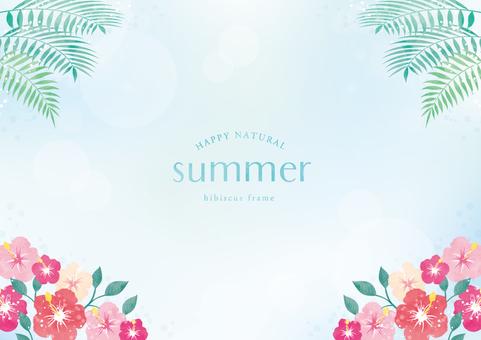 Summer background frame 062 hibiscus