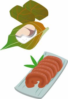 柿の葉寿司と奈良漬け