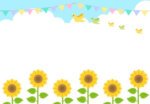 Sunflower Frame Flag Garland