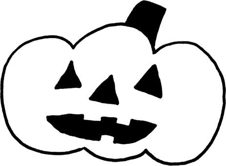 モノクロハロウィンかぼちゃ
