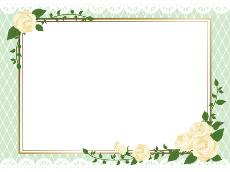 White rose gothic frame side 01