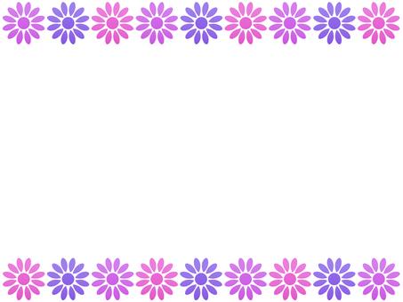 お花のフレーム ピンク系