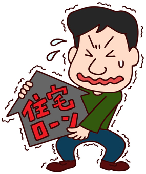 Illustration of a male loan-heavy male