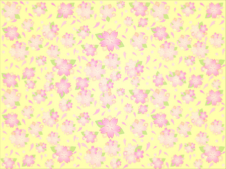 Cherry blossom background Yellow