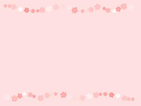 Flower Frame ver 03 Background Pink