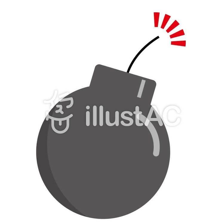 爆弾・アイコンのイラスト