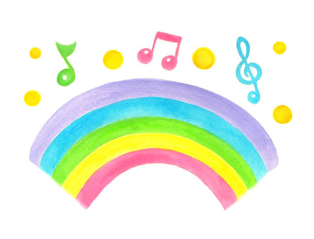 Rainbow and note