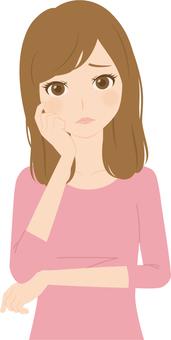 Female | Female college student | private clothes | suffer