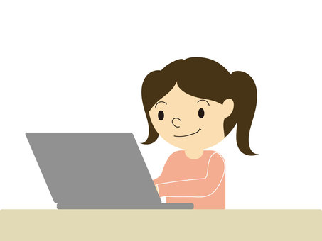 Personal computer and girl