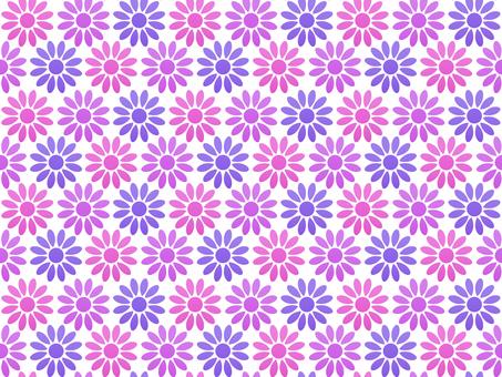 お花のシームレスパターン ピンク系