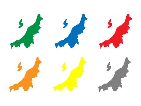 Niigata Prefecture Map Set