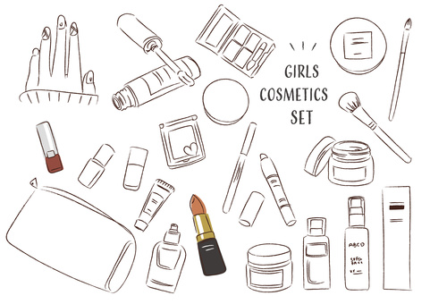 Cosmetics cosmetic girl makeup illustration