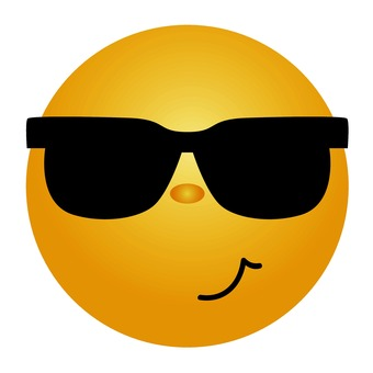 Emoticon with sunglasses