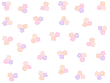 花娜哈娜滿花紋(粉紅色)