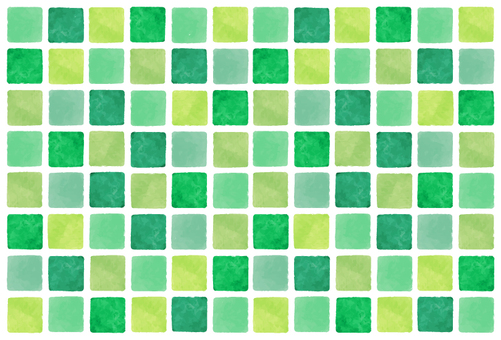 Greenish watercolor style tile