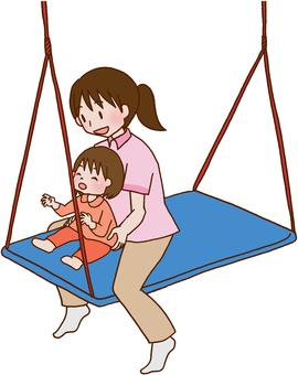 [Rehabilitation] Children, swing, sensory integration