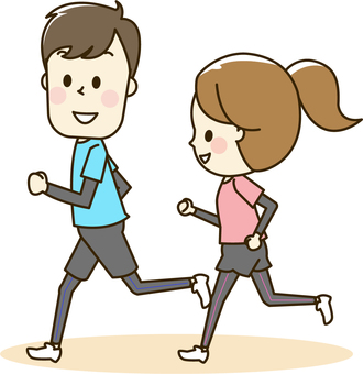 Male and female running 2-1