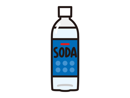 Carbonated water plastic bottle