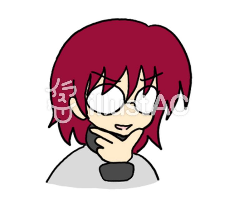 不敵な笑み赤髪イラスト No 1088816無料イラストならイラストac