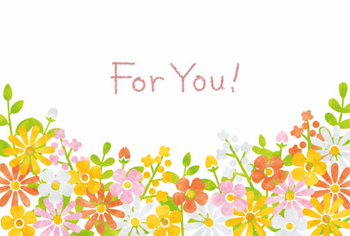 Message card / flower red series