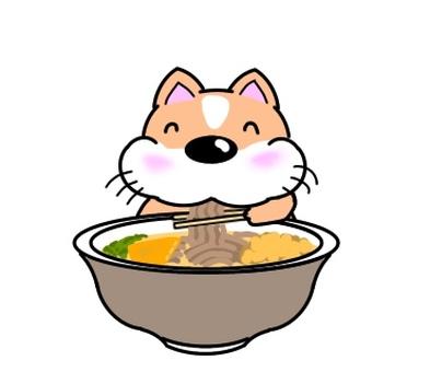 吃蕎麥麵蕎麥麵的狗