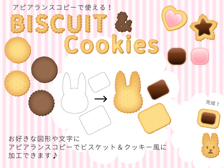 Biscuits & cookie materials available for copying