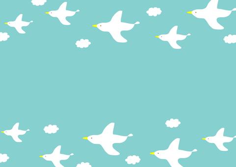 푸른 하늘, 하얀 새