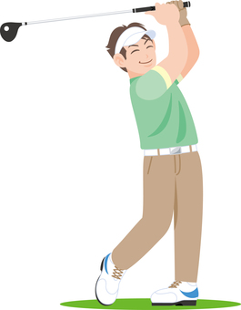 Golf swing golfer youth