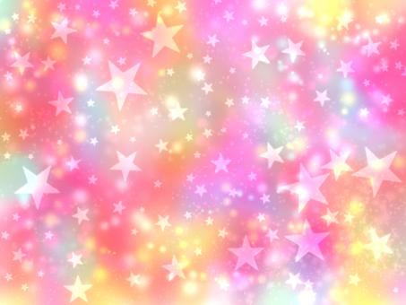 Aurora color starry sky wallpaper