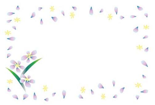 Cute framework of light purple and flower petals