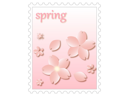 Spring stamp (cherry blossoms)