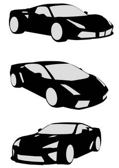 Sports car · Silhouette
