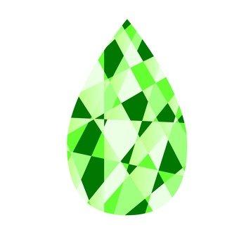 눈물 - 녹색