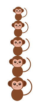Monkey (zodiac · For 2016 New Year's card)
