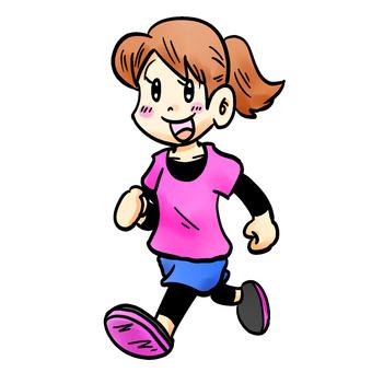 慢跑的女人
